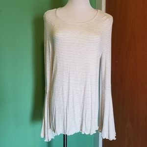Striped Bell-Sleeved Tunic